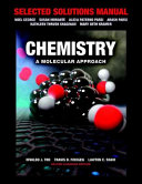 Selected Solutions Manual for Chemistry Book