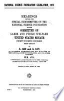 National Science Foundation Legislation 1975