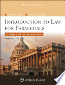 """Introduction to Law for Paralegals: A Critical Thinking Approach"" by Katherine A. Currier"