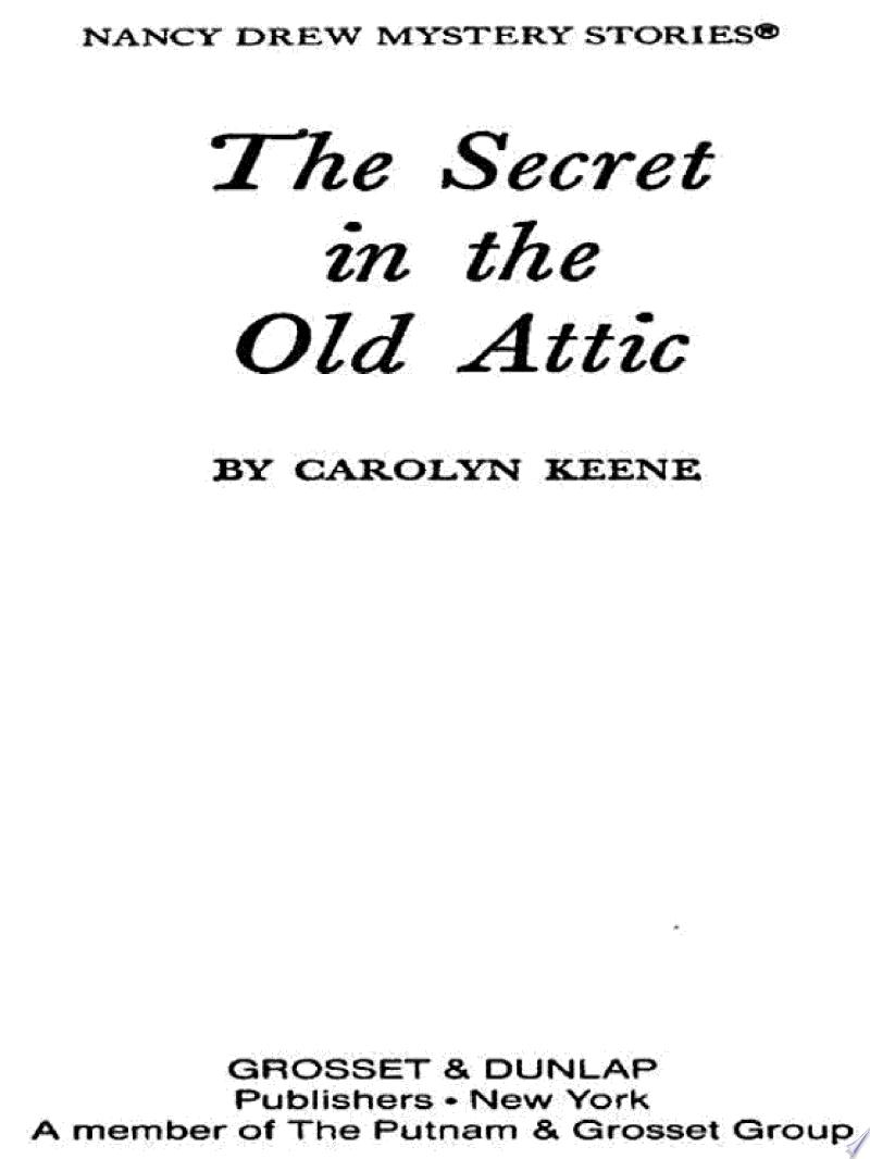 Nancy Drew 21: The Secret in the Old Attic banner backdrop