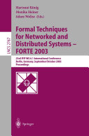 Pdf Formal Techniques for Networked and Distributed Systems - FORTE 2003 Telecharger
