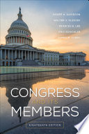 Congress and Its Members Book