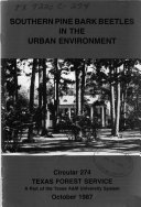 Southern Pine Bark Beetles in the Urban Environment