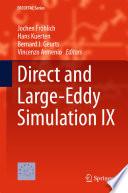Direct And Large Eddy Simulation Ix Book PDF