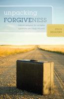 Pdf Unpacking Forgiveness