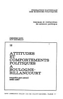 Attitudes et comportements politiques à Boulogne-Billancourt