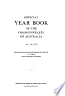 Official Year Book Of The Commonwealth Of Australia No 56 1970