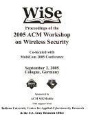 Proceedings of the     ACM Workshop on Wireless Security