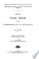 Official Year Book Of The Commonwealth Of Australia No 40 1954
