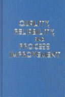Quality  Reliability  and Process Improvement