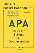 The APA Pocket Handbook