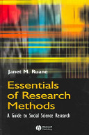 Cover of Essentials of Research Methods
