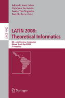 LATIN 2008  Theoretical Informatics