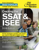 Cracking the SSAT   ISEE  2016 Edition Book