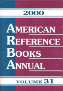 American Reference Books Annual 2000