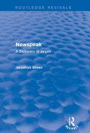 Newspeak (Routledge Revivals) Pdf/ePub eBook