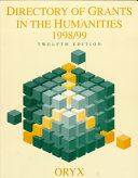 Directory of Grants in the Humanities  1998 99