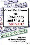 Great Problems In Philosophy And Physics Solved  Book PDF