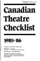 Canadian Theatre Checklist