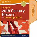 Complete 20th Century History for Cambridge IGCSE