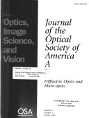 Journal of the Optical Society of America Book