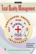 Total Quality Management  As Per Vtu Syllabus