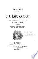 Oeuvres complètes de J. J. Rousseau: Lettres à C. de Beaumont. Lettre de la montagne