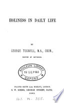 Holiness in daily life  sermons
