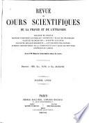 Revue des cours scientifiques de la France et de l'étranger