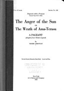 The Anger of the Sun  Or  The Wrath of Ama Terasu