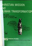 Christian and Human Transformation