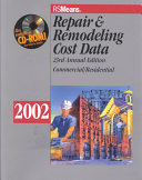 Means Repair and Remodeling Cost Data 2002