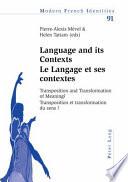 Language Et Ses Contexts