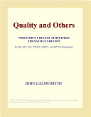 Download Quality and Others (Webster's Chinese Simplified Thesaurus Edition) Epub