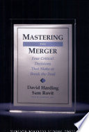 Mastering the Merger