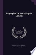 Biographie de Jean-Jacques Lambin