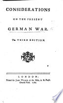 Considerations on the Present German War