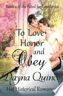 To Love  Honor  and Obey     Fated for Love Book 4  Book PDF