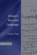 Homer s Text and Language
