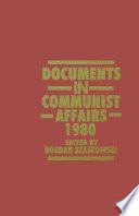 Documents in Communist Affairs