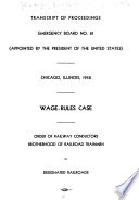 Transcript of Proceedings  Emergency Board No  81  appointed by the President of the United States