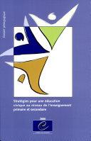 Pdf Stratégies pour une éducation civique au niveau de l'enseignement primaire et secondaire Telecharger