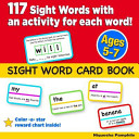 Sight Word Card Book Book