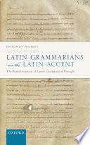Latin Grammarians on the Latin Accent