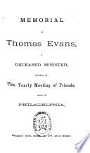 Memorial of Thomas Evans Book PDF