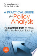 A Practical Guide For Policy Analysis Book