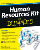 """Human Resources Kit For Dummies"" by Max Messmer"