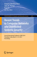 Pdf Recent Trends in Computer Networks and Distributed Systems Security Telecharger