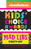 Nickelodeon Kids  Choice Awards Mad Libs Party Kit