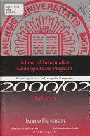 School of Informatics Undergraduate Program ... Bulletin